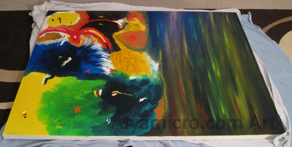 Original Hand Oil Painting 60x50 - One of a Kind 1 Available Only
