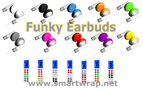 Funky Assorted Colors to replace Your Existing Earbuds