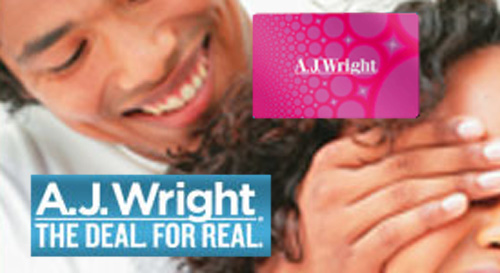 AJ Wright $225 Gift Cards for $209.50 - Save 7%