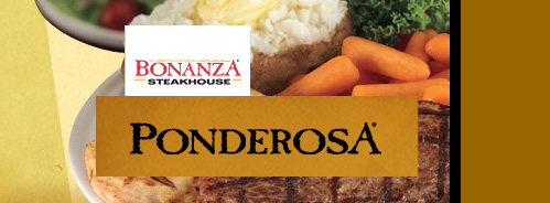 Ponderosa Steakhouse $100 Gift Cards for $90 - Save 10%