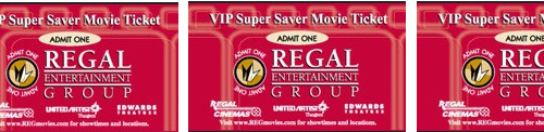 Regal Cinema/ Edward Cinema Movie Tickets