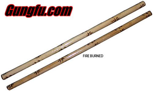 Kali / Arnis Escrima Sticks Fire Burned / Lacquered - Doce Pares