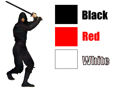 Authentic Ninja Uniforms - Black, Red or White - Click Image to Close